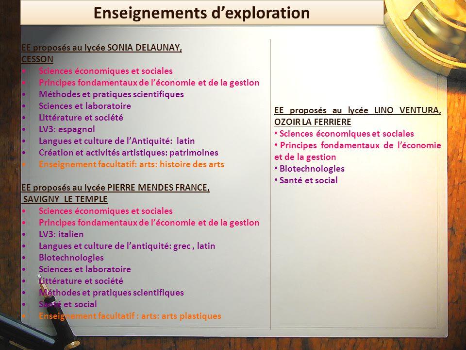EE proposés au lycée SONIA DELAUNAY, CESSON Sciences économiques et sociales Principes fondamentaux de léconomie et de la gestion Méthodes et pratique