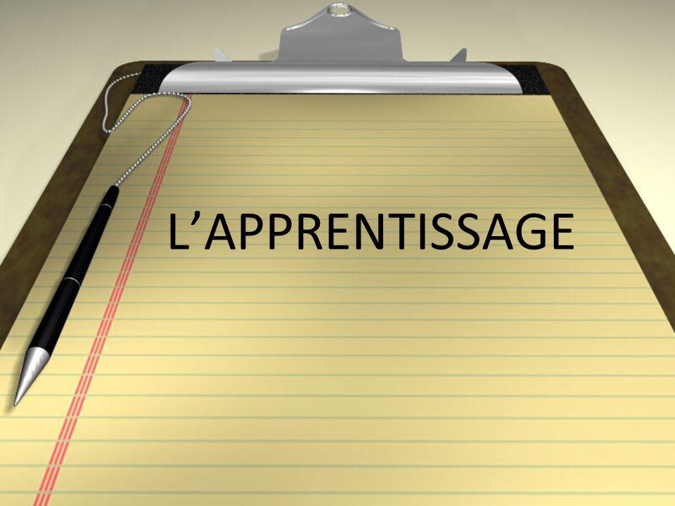 LAPPRENTISSAGE