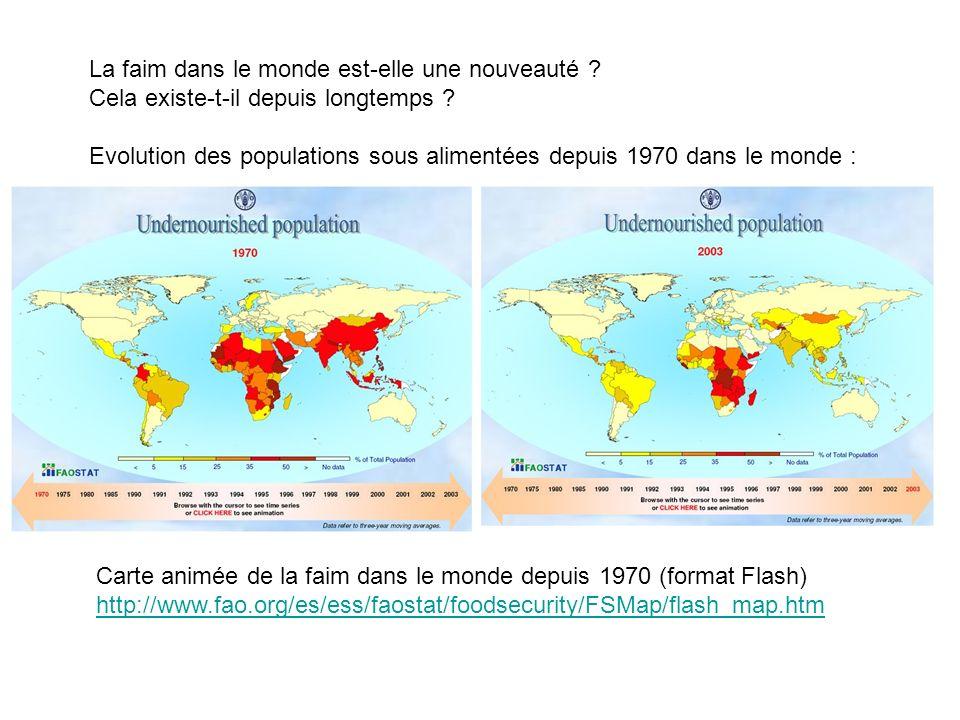 Constats: situation alimentaire mondiale actuelle et enjeux pour demain : courbe 1 : population mondiale multipliée par 6 entre 1850 et 2000.