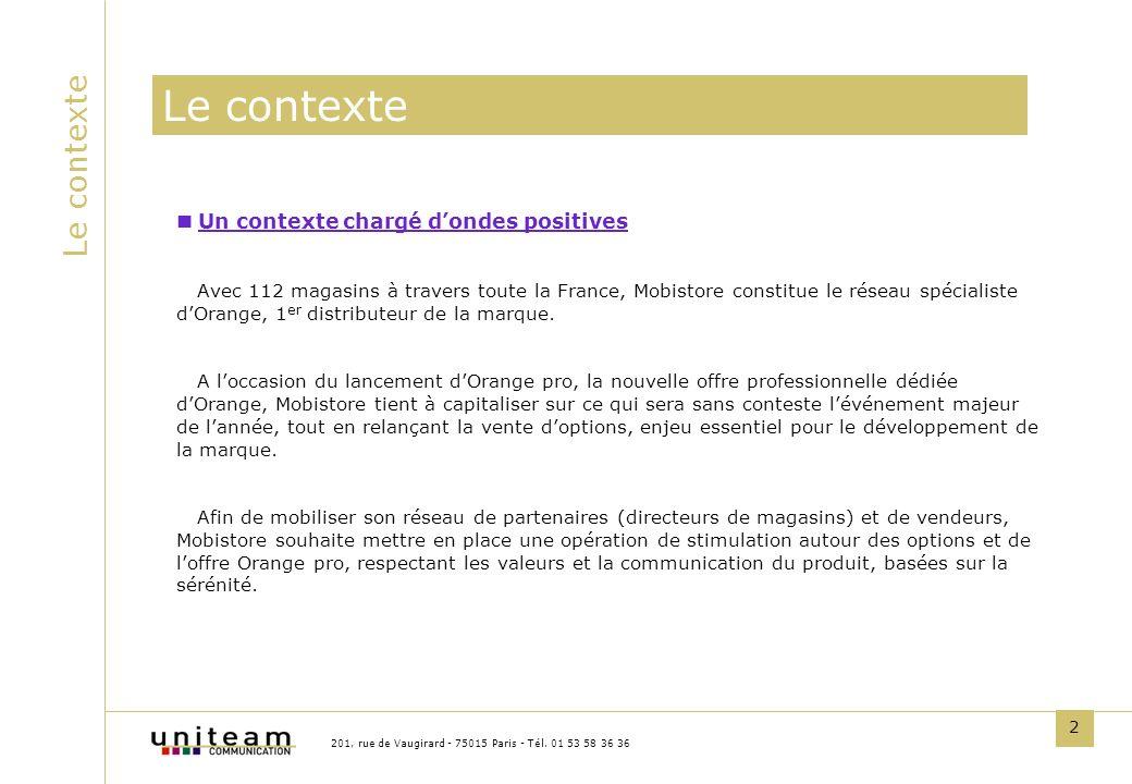 2 Le contexte Un contexte chargé dondes positives Avec 112 magasins à travers toute la France, Mobistore constitue le réseau spécialiste dOrange, 1 er