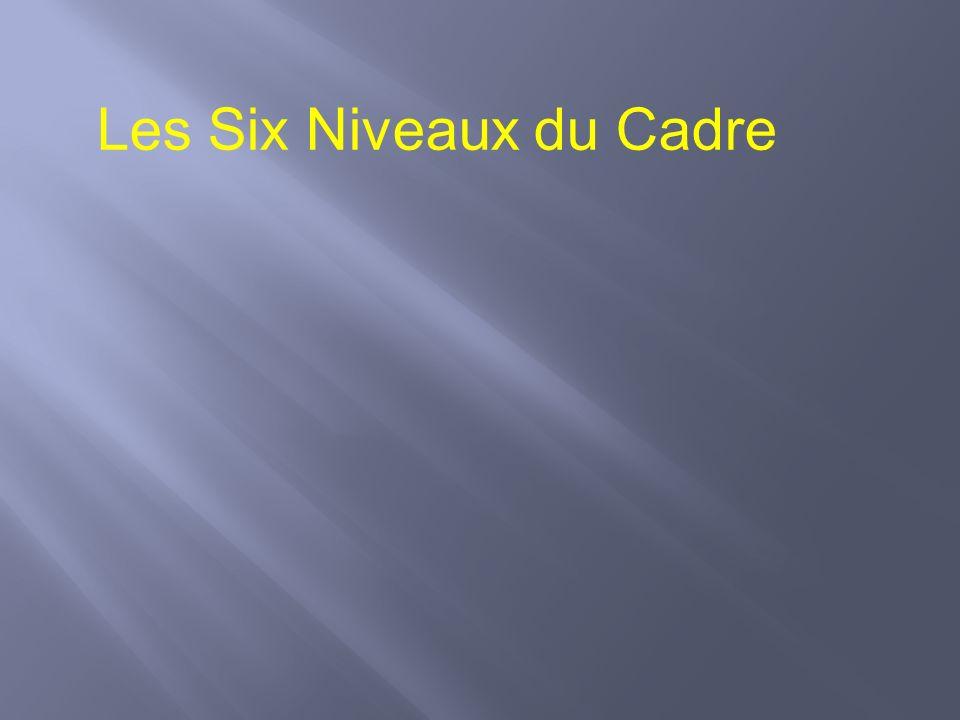 Les Six Niveaux du Cadre