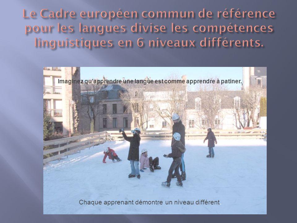 Chaque apprenant démontre un niveau différent. Imaginez quapprendre une langue est comme apprendre à patiner.