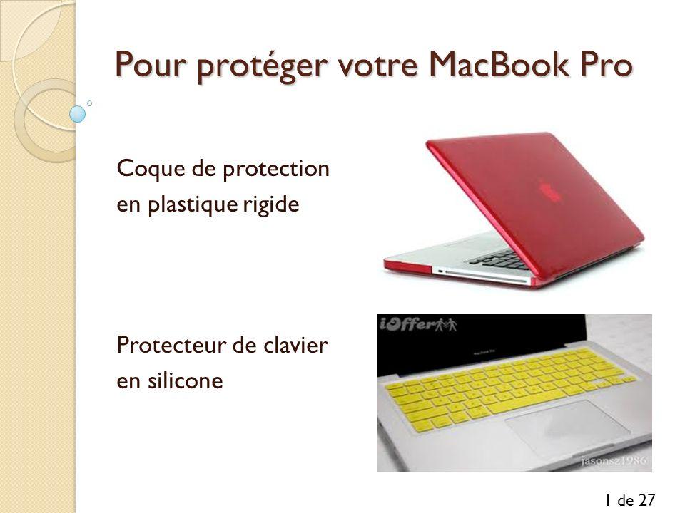 Pour protéger votre MacBook Pro Coque de protection en plastique rigide Protecteur de clavier en silicone 1 de 27