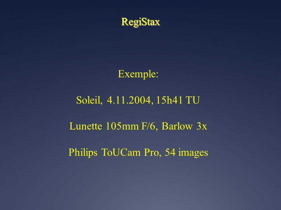 Tri des images Truc # 1 Usage de Registax pour le tri manuel assisté des images Registax permet l'affichage de la liste d'images. On peut y sélectionn