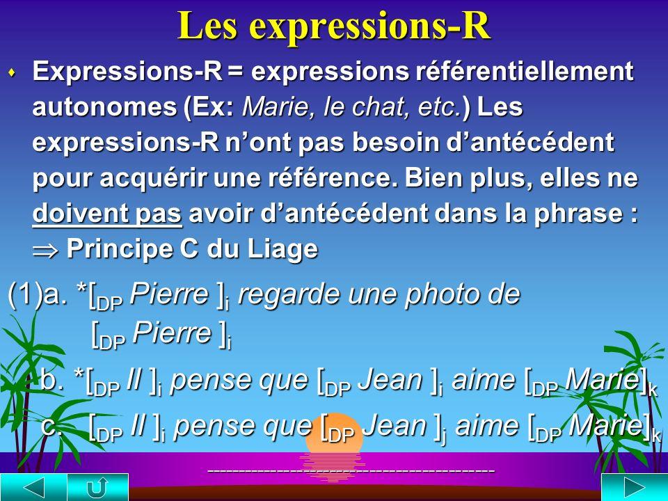 La classe des pronoms s Pronoms Anaphores s Les pronoms peuvent apparaître dans une phrase sans antécédent (lantécédent est alors dans le contexte) (1