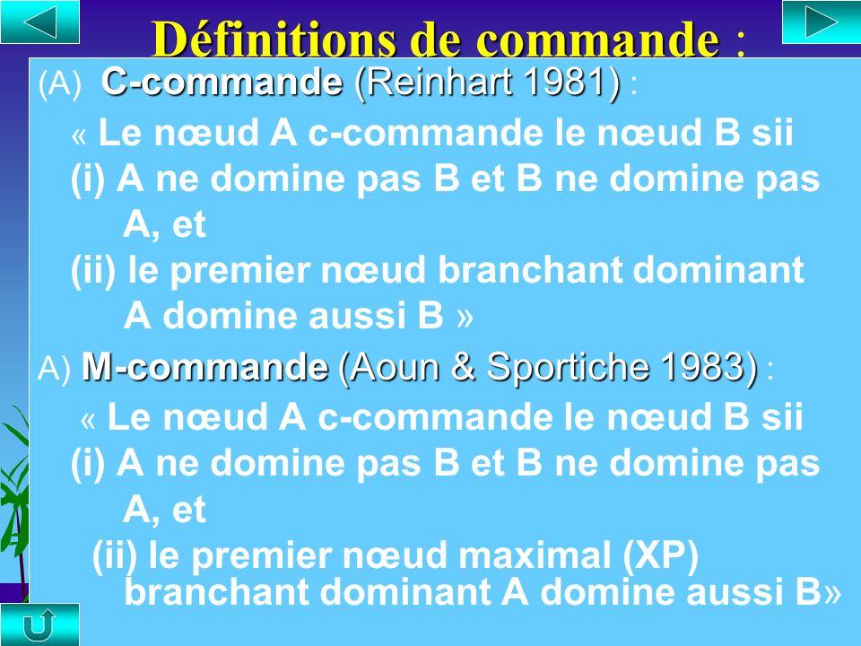 Définition de précédence Définition de précédence : Précédence (A) Précédence : « Le nœud A précède le nœud B sii A se trouve à la gauche de B et A ne
