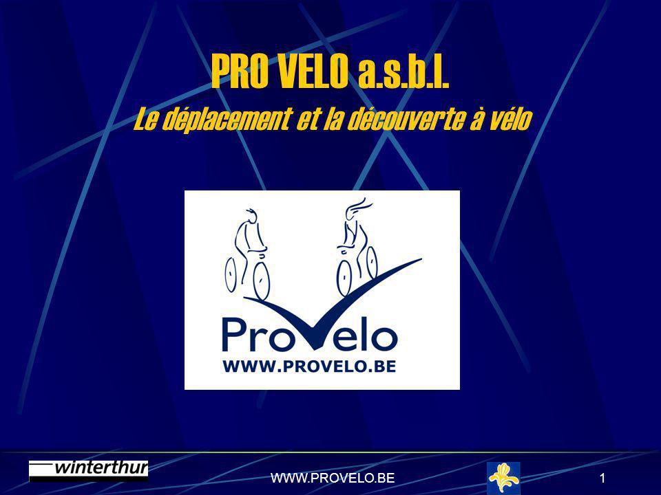 WWW.PROVELO.BE11