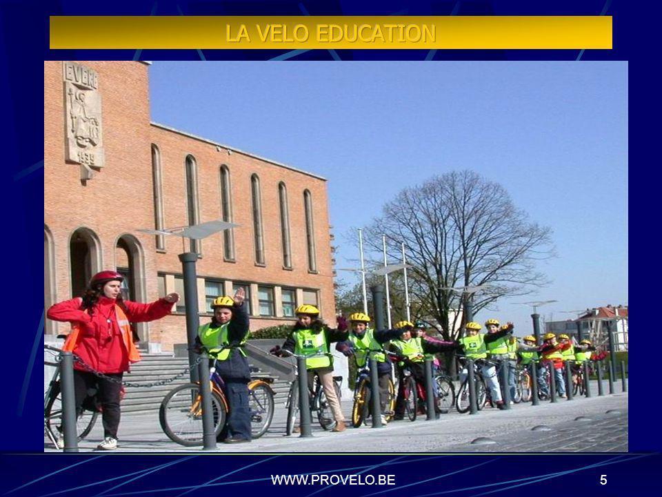 WWW.PROVELO.BE4 Léducation au vélo, cest notre métier Une équipe de 22 permanents spécialisés Des formations pour les enfants ET pour les adultes 50.0