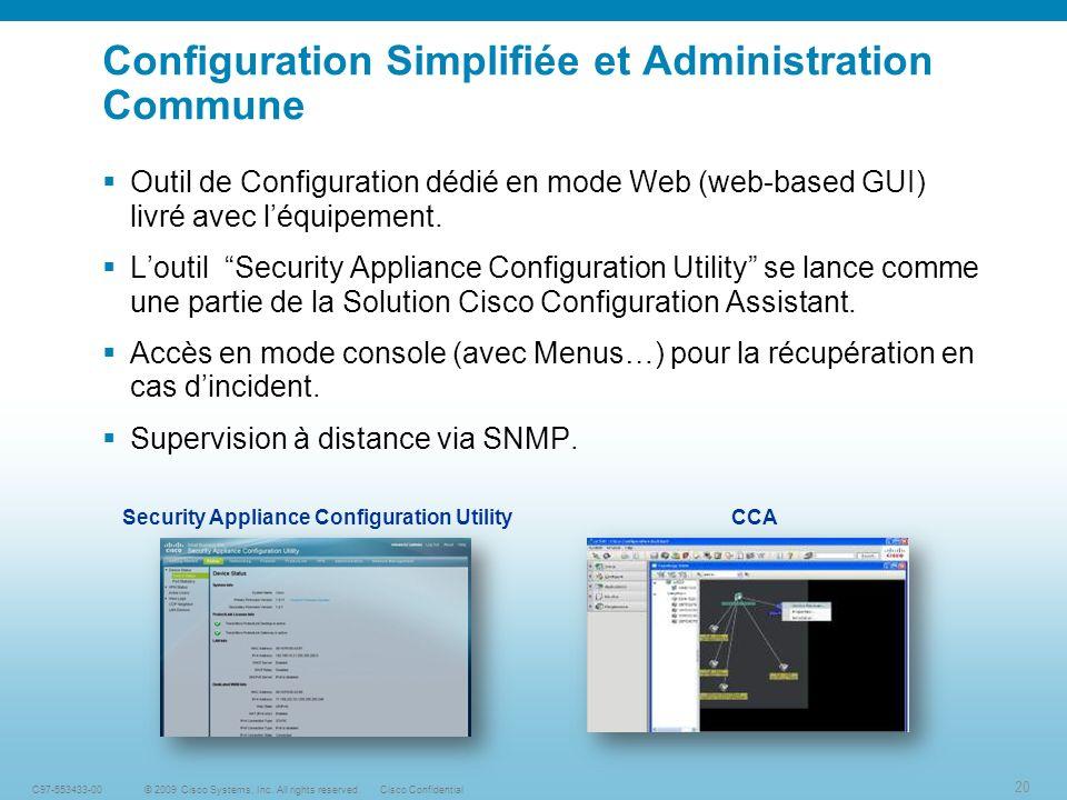 20 © 2009 Cisco Systems, Inc.