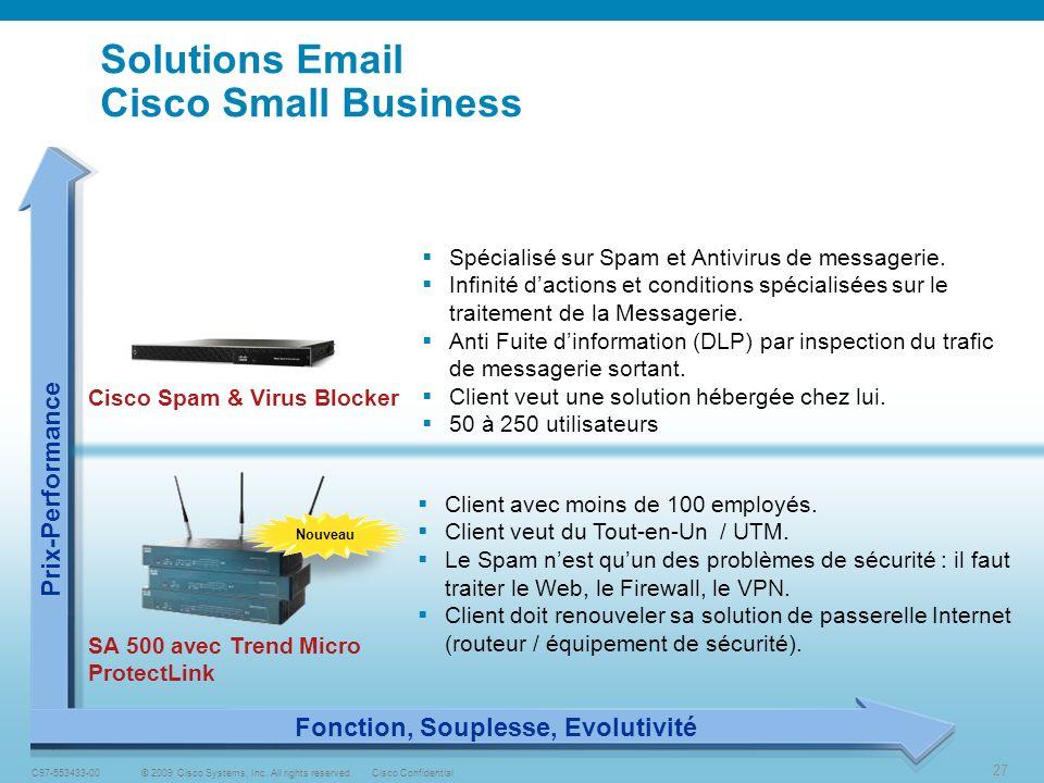 27 © 2009 Cisco Systems, Inc.