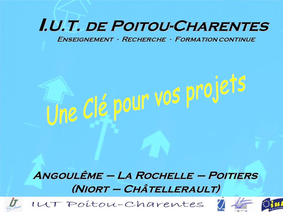 Angoulême – La Rochelle – Poitiers (Niort – Châtellerault) I.U.T.