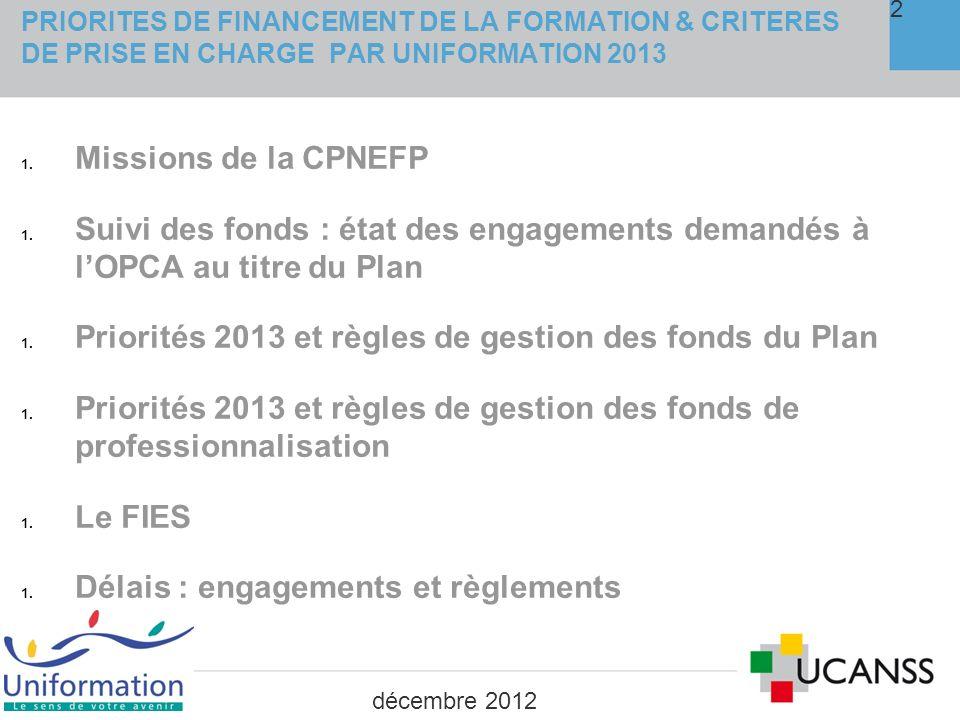 1. Les missions de la CPNEFP décembre 2012 3
