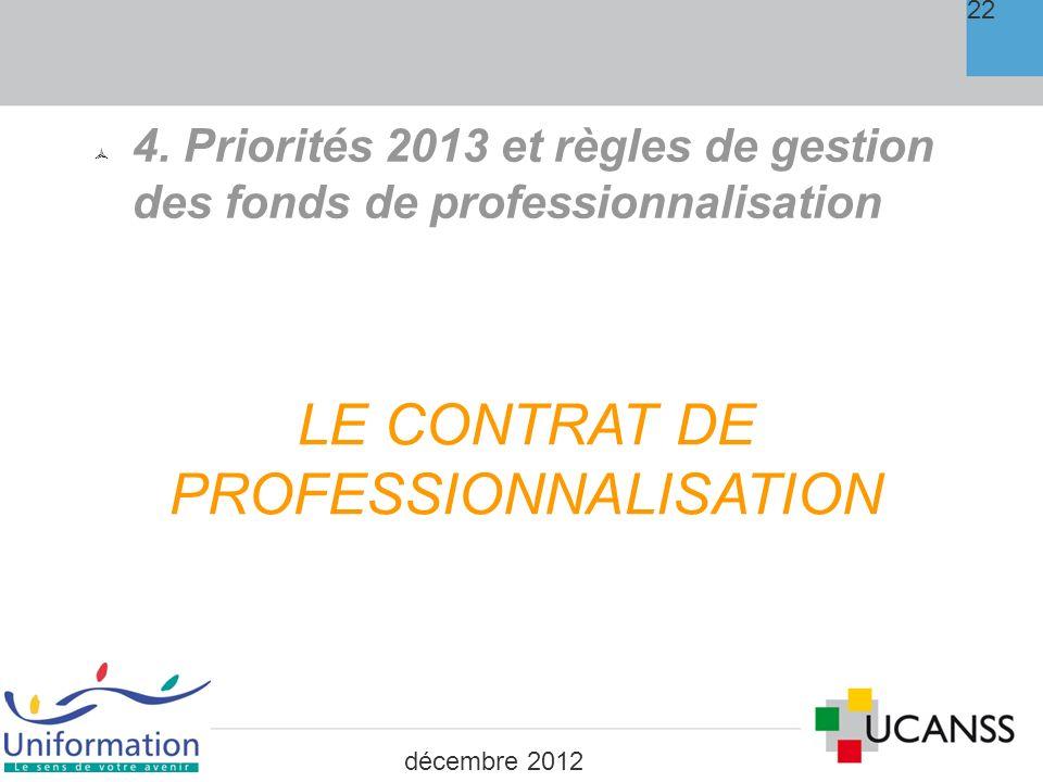 Professionnalisation : le contrat de Pro 23 PRISE EN CHARGE: 12 /h dont 2.85 /h sur le Plan Via Reconduction sur 2013 du cofinancement Plan 15 /h dans le cas où le bénéficiaire appartient à lun des publics prioritaire énumérés à lart.