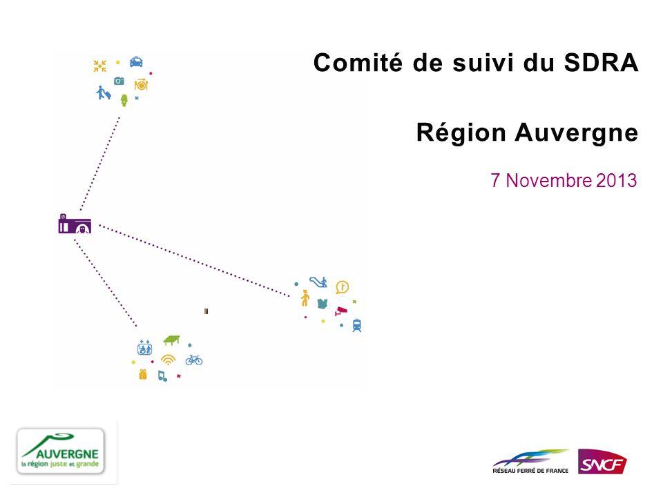 Comité de suivi du SDRA Région Auvergne 7 Novembre 2013