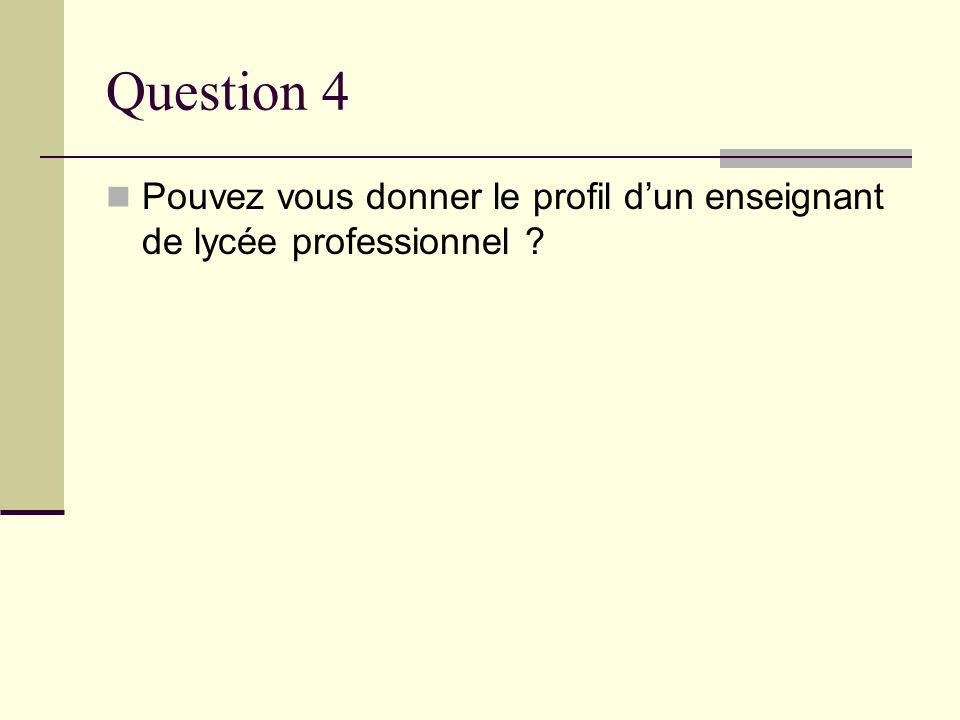 Question 5 Comment percevez vous lEPS et son enseignement dans le lycée professionnel ?