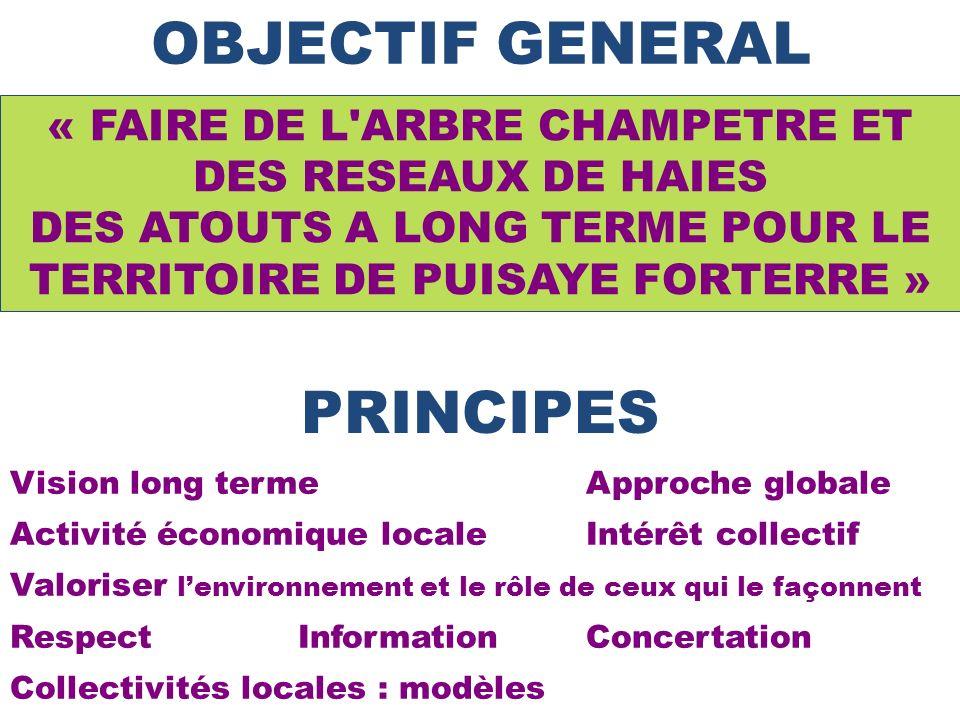 OBJECTIF GENERAL Vision long terme Approche globale Activité économique localeIntérêt collectif Valoriser lenvironnement et le rôle de ceux qui le faç