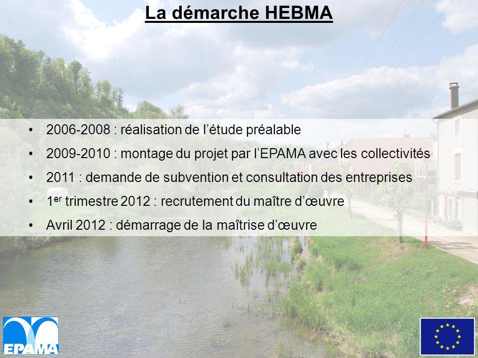 2006-2008 : réalisation de létude préalable 2009-2010 : montage du projet par lEPAMA avec les collectivités 2011 : demande de subvention et consultati