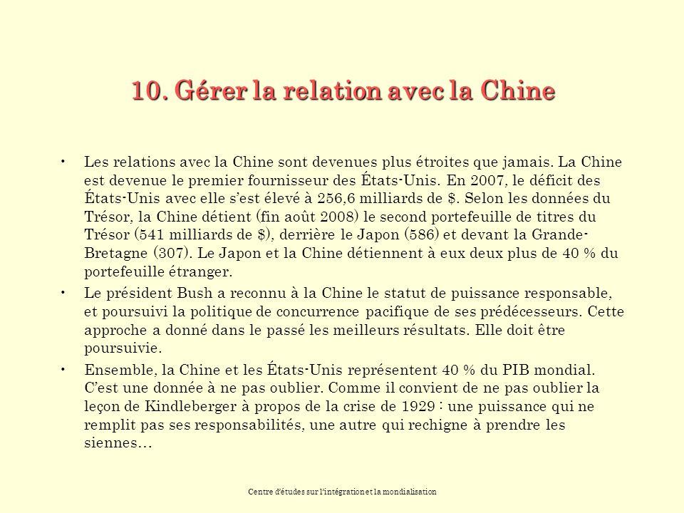 Centre détudes sur lintégration et la mondialisation 10.