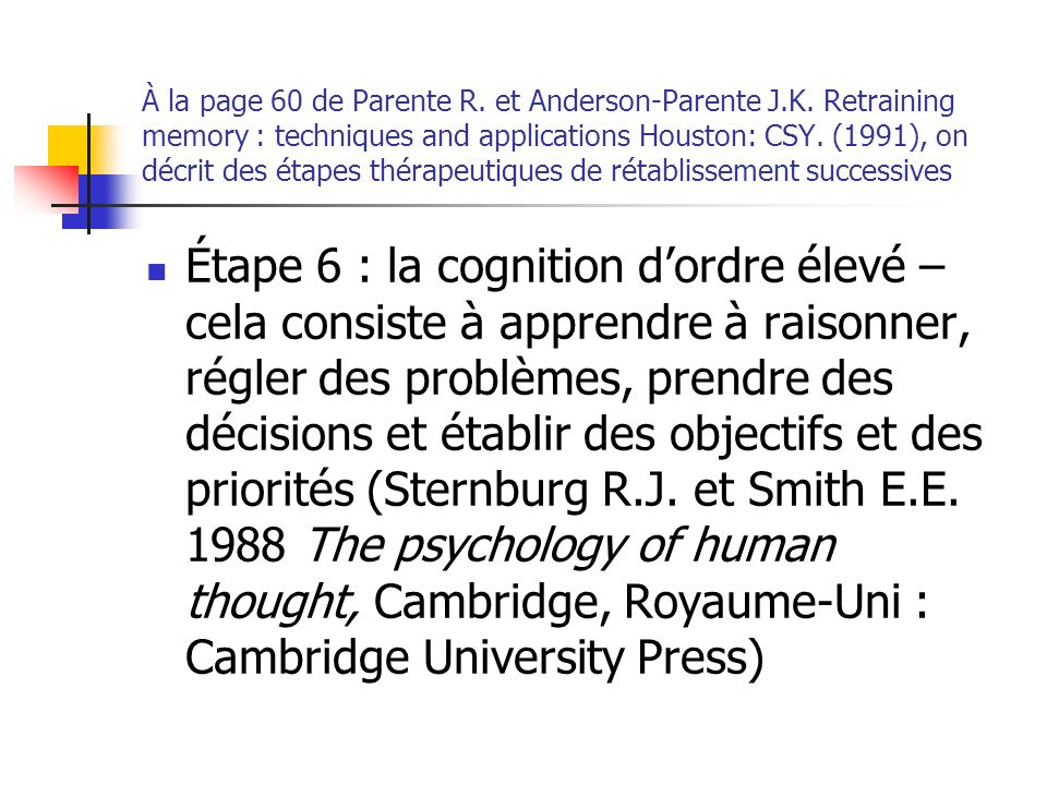 À la page 60 de Parente R. et Anderson-Parente J.K.