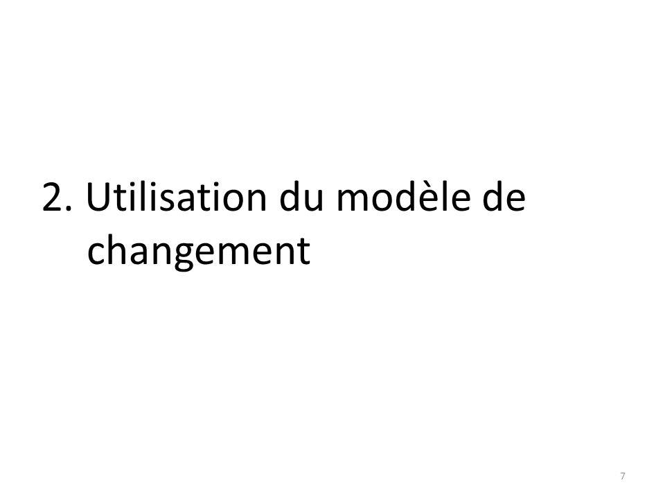 2. Utilisation du modèle de changement 7
