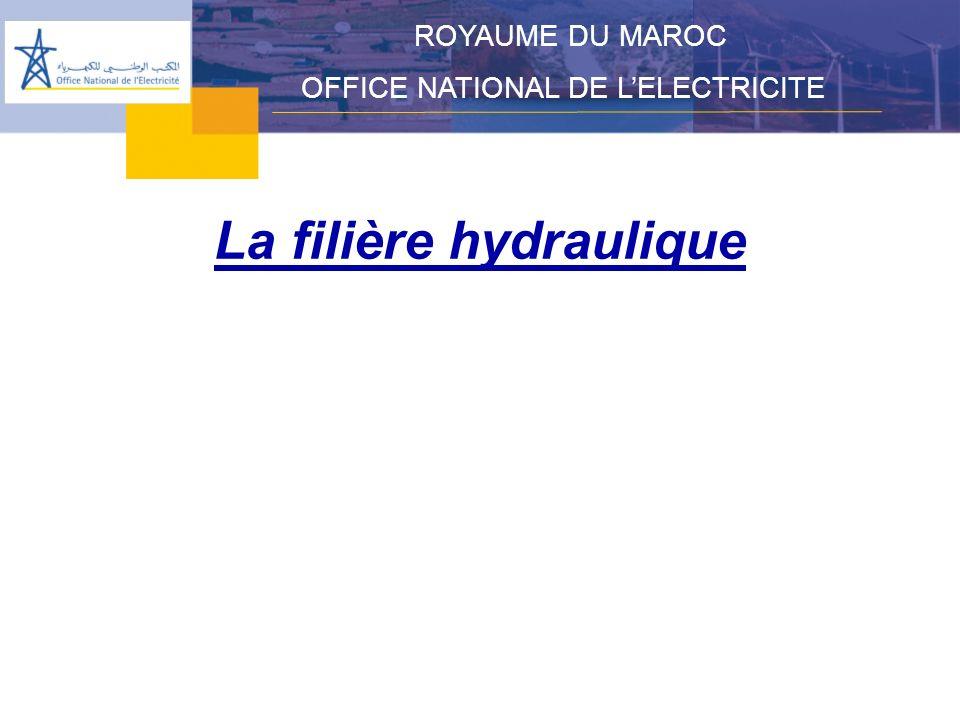 La filière hydraulique ROYAUME DU MAROC OFFICE NATIONAL DE LELECTRICITE