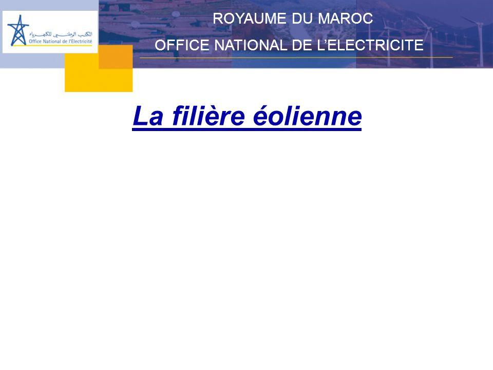 La filière éolienne ROYAUME DU MAROC OFFICE NATIONAL DE LELECTRICITE