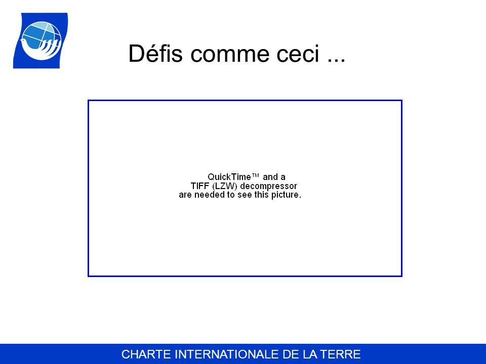 CHARTE INTERNATIONALE DE LA TERRE Défis comme ceci...