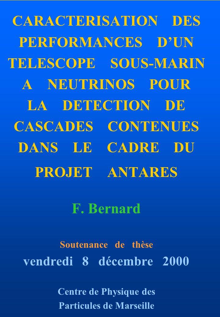 F.Bernard CPPM, 8. 12. 2000 2 NOTRE ITINERAIRE...