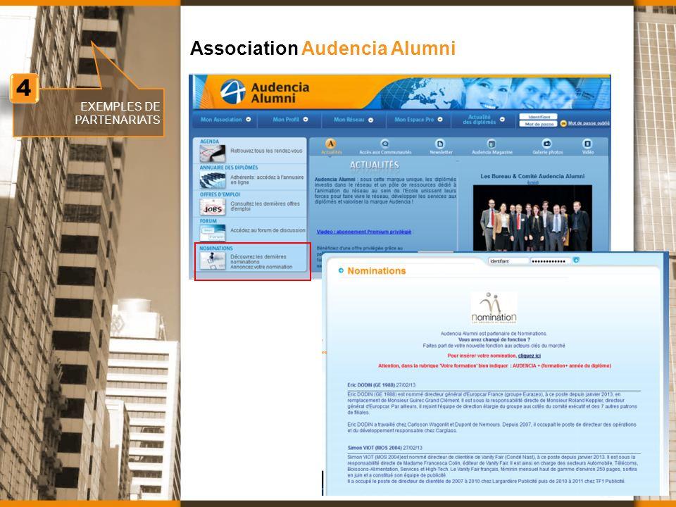 www.nomination.fr EXEMPLES DE PARTENARIATS Association Audencia Alumni 4 4