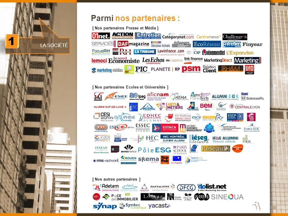 www.nomination.fr Parmi nos partenaires : [ Nos partenaires Presse et Média ] [ Nos partenaires Ecoles et Universités ] [ Nos autres partenaires ] 1 1