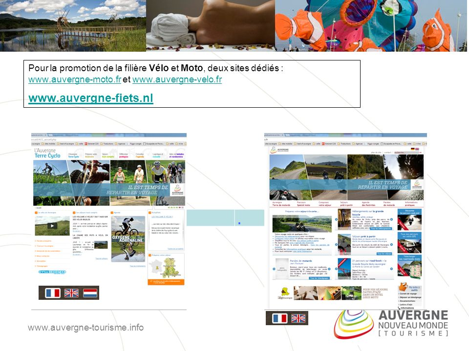 Un site dédié aux organisateurs de voyages (agence de voyages, tour-opérateurs, autocaristes) valorisant des offres adaptées aux individuels ou aux groupes.