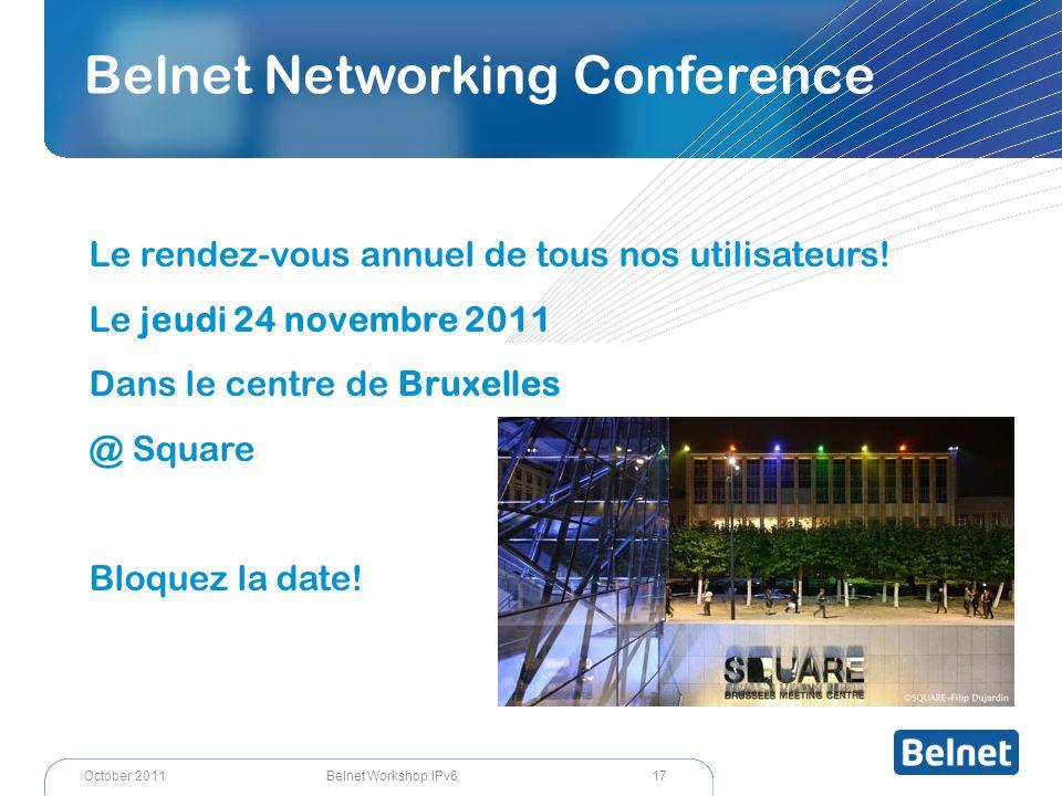 Belnet Networking Conference Le rendez-vous annuel de tous nos utilisateurs.