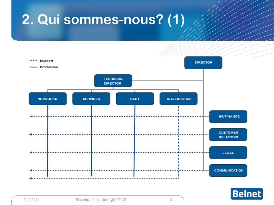 2. Qui sommes-nous (1) 4 Réunion plénière form@HETICE12/10/2011
