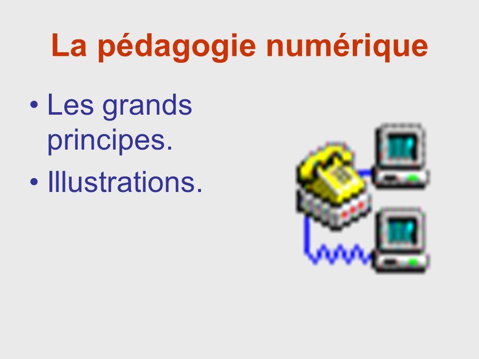 La pédagogie numérique Les grands principes. Illustrations.