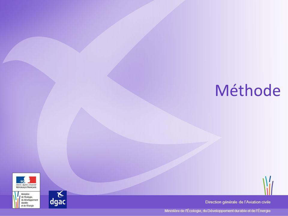 Ministère de l'Écologie, du Développement durable et de lÉnergie Direction générale de lAviation civile Méthode
