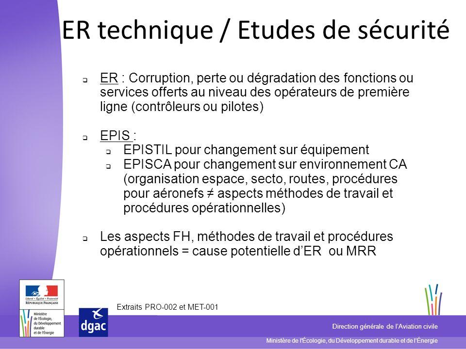Ministère de l'Écologie, du Développement durable et de lÉnergie Direction générale de lAviation civile ER technique / Etudes de sécurité ER : Corrupt