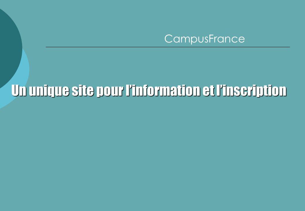 CampusFrance Un unique site pour linformation et linscription