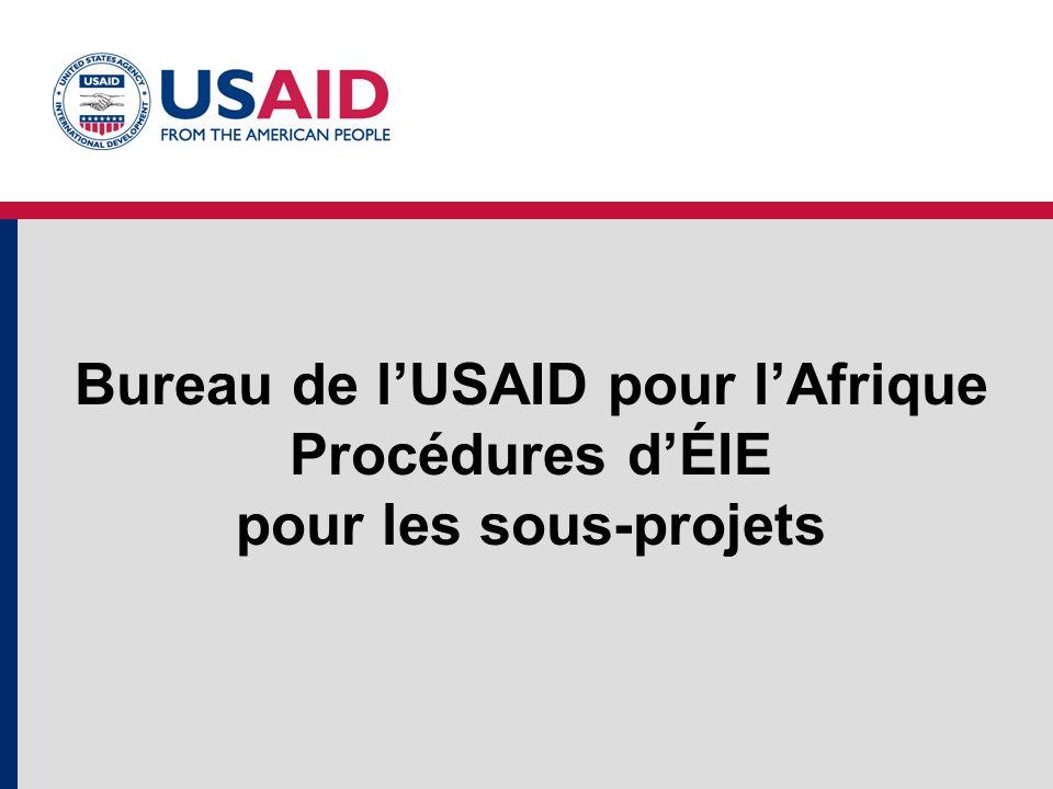 Bureau de lUSAID pour lAfrique Procédures dÉIE pour les sous-projets