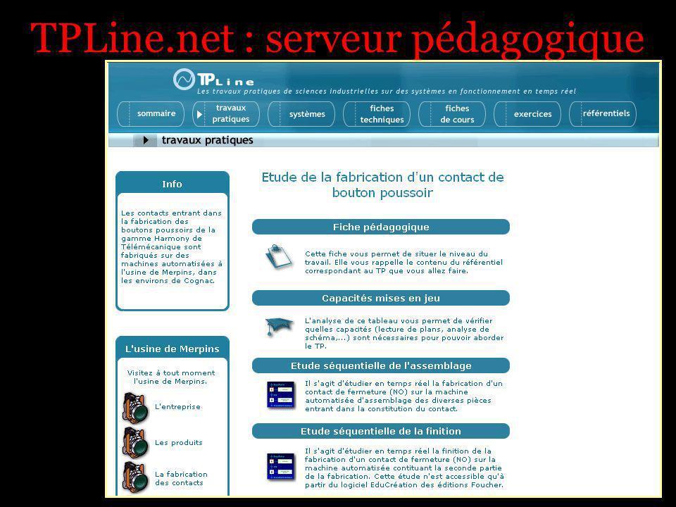 TPLine.net : serveur pédagogique