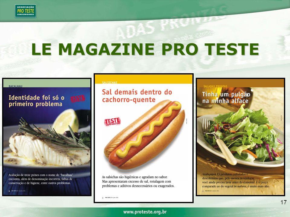 17 LE MAGAZINE PRO TESTE