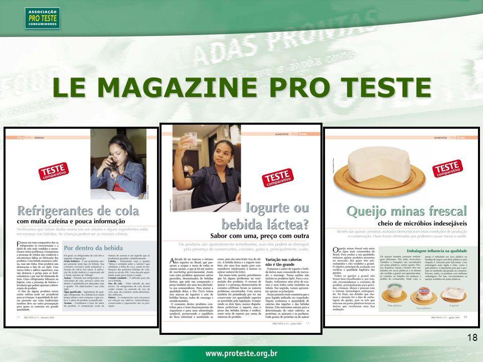 18 LE MAGAZINE PRO TESTE