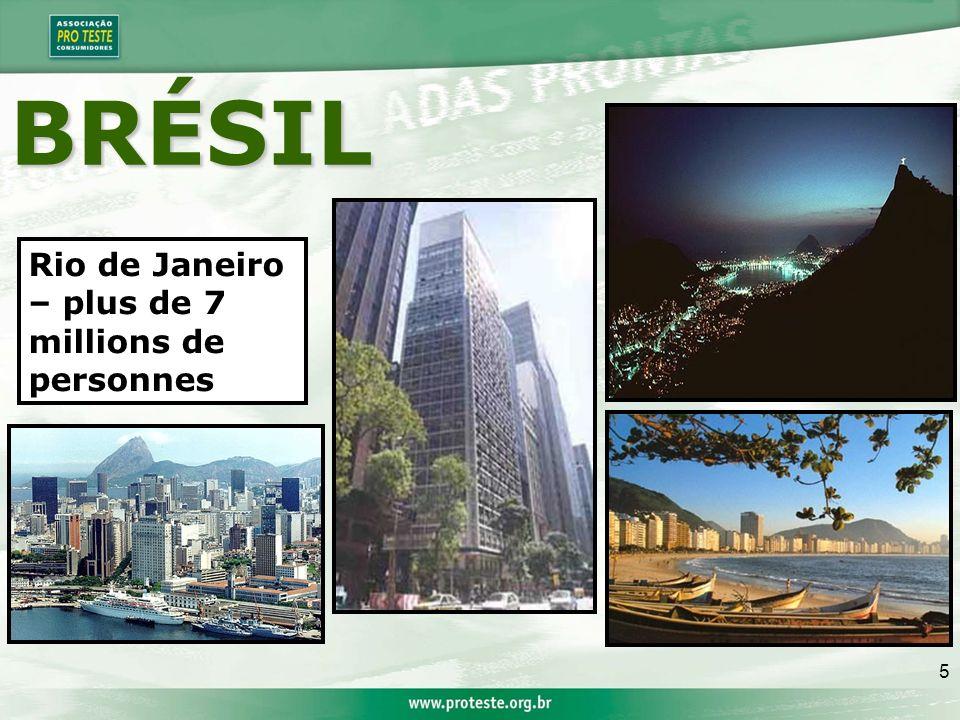 5 Rio de Janeiro – plus de 7 millions de personnes BRÉSIL