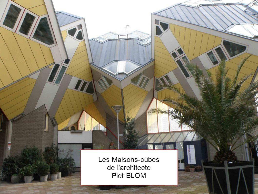 Les Maisons-cubes de l'architecte Piet BLOM