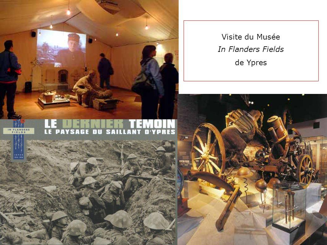 Visite du Musée In Flanders Fields de Ypres