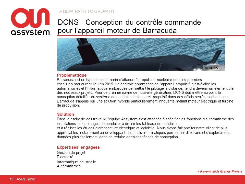 Problématique Barracuda est un type de sous-marin dattaque à propulsion nucléaire dont les premiers essais en mer auront lieu en 2015. Le contrôle com