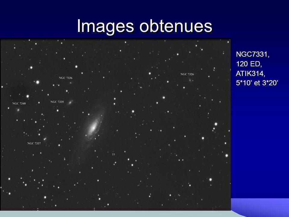 Images obtenues NGC7331, 120 ED, ATIK314, 5*10 et 3*20