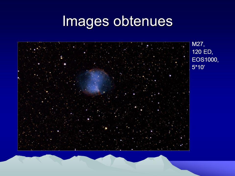 Images obtenues M27, 120 ED, EOS1000, 5*10