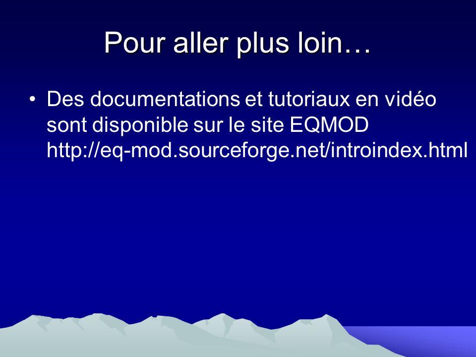 Pour aller plus loin… Des documentations et tutoriaux en vidéo sont disponible sur le site EQMOD http://eq-mod.sourceforge.net/introindex.html