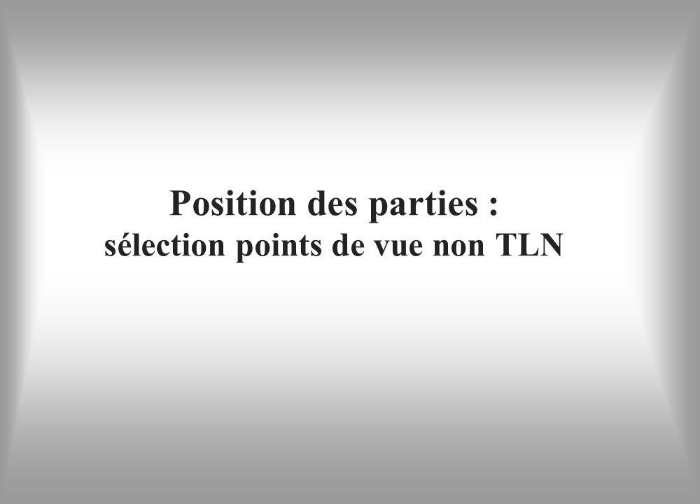 Position des parties : sélection points de vue non TLN