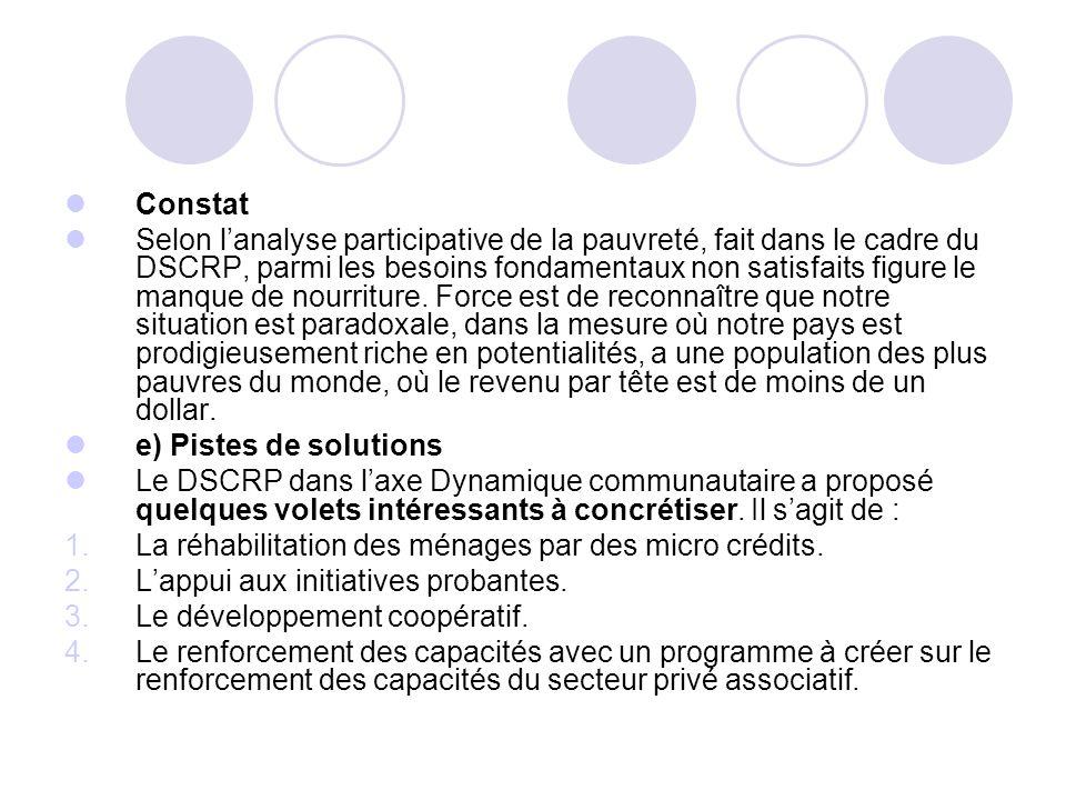 Définition du concept sécurité alimentaire (suite).